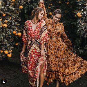 Spell Lolita Cutout Maxi Dress Campfire Size S